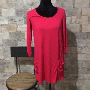 LOGO tunic - bright pink, size XS